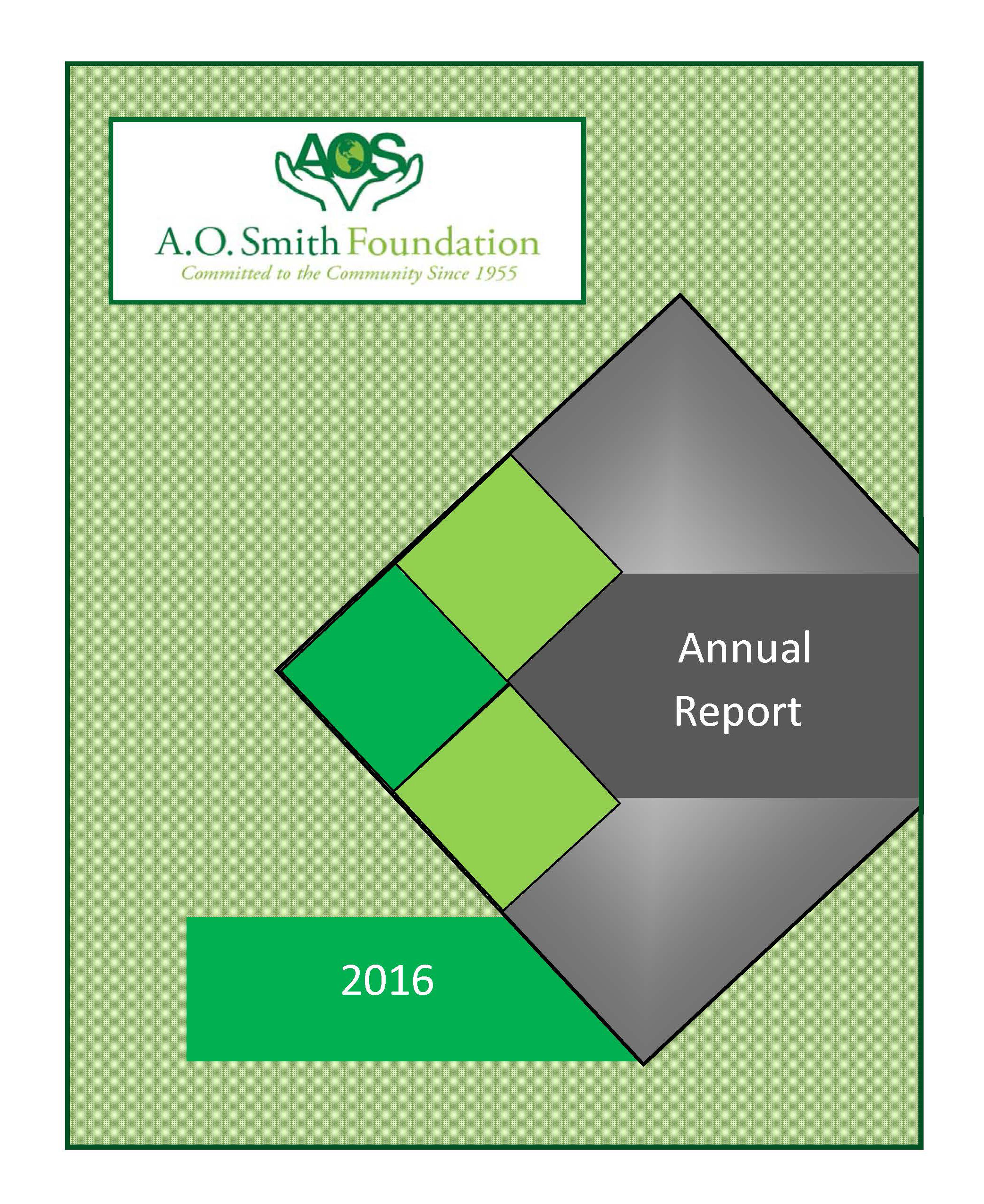 Foundation Annual Report Cover Page